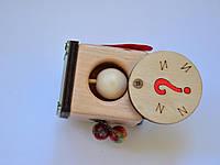 Бізікубик з таємним отвором без замочків для дітей від 8 місяців, розмір 45/45 мм