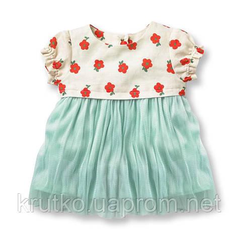 Платье для девочки Цветы Jumping Beans, фото 2