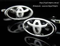 """Запонки тойота """"Toyota"""". Запонки в форме марки авто."""
