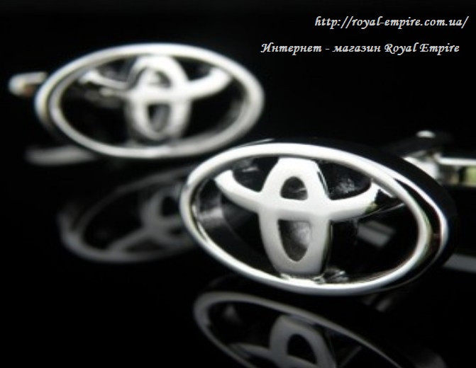 """Запонки тойота """"Toyota"""". Запонки у формі марки авто."""