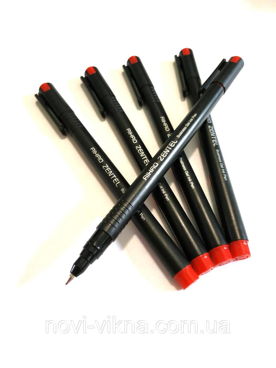 Ручка гелевая AIHAO ZENTEL, красная.