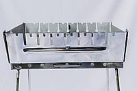 Мангал-чемодан из нержавеющей стали на 10 шампуров. 2 мм. разборной, складной, переносной,компактный