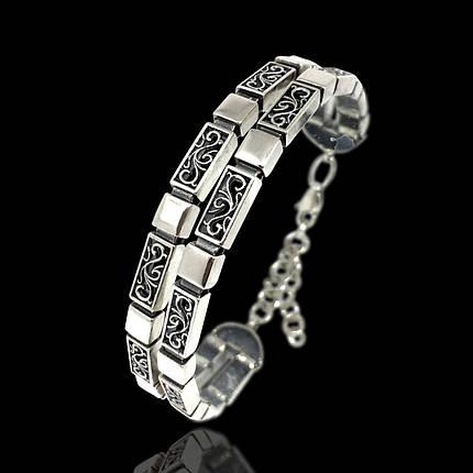 Серебряный женский браслет, 180-230мм, 30 грамм, фото 2