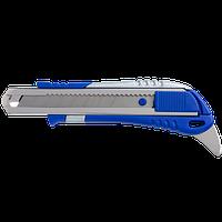 Ніж канцелярський Buromax 18 мм і металева направляюча і пластиковий корпус c гумовими вставками