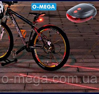 Велосипедный фонарь + лазер KK-9301