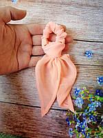 """Детская резинка для волос Твилли """"Воздушная персиковая"""", фото 1"""