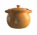 Термостойкая керамическая кастрюля Sacher 2,75 л коричневая