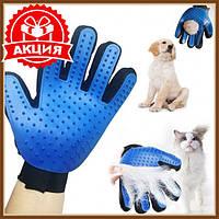 Перчатка для вычесывания шерсти животных true touch, Перчатка для снятия шерсти, Перчатка для животных, Товары