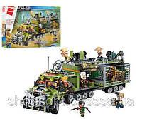 Конструктор Brick Военная серия Трейлер: 658 деталей, 6 фигурок, фото 1