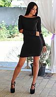 Женское свободное платье с разрезами на рукавах