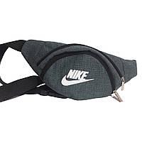Сумка на пояс, бананка Nike зелёная, на 3 отделения (реплика), фото 1
