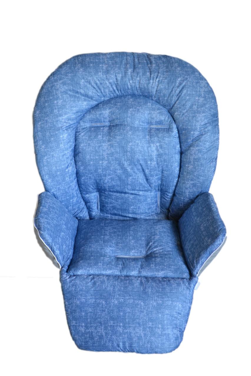 Чехол на стульчик для кормления DavLu под джинс голубой  (Ch-331), фото 1