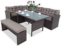 Комплект садовой мебели плетеной из ротанга Topiano Antracite (коричневый)