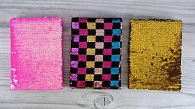 Блокнот А5 Пайетки №249 Клетка (15*21 см) Китай