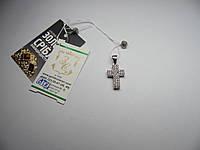 Серебряный крестик декоративный НОВЫЙ. Вес 1,8 г.