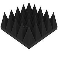 Акустический поролон «Пирамида 120» 25*25 см. звукопоглощающий. Черный графит