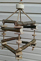 Игрушка для попугая объемная лесенка