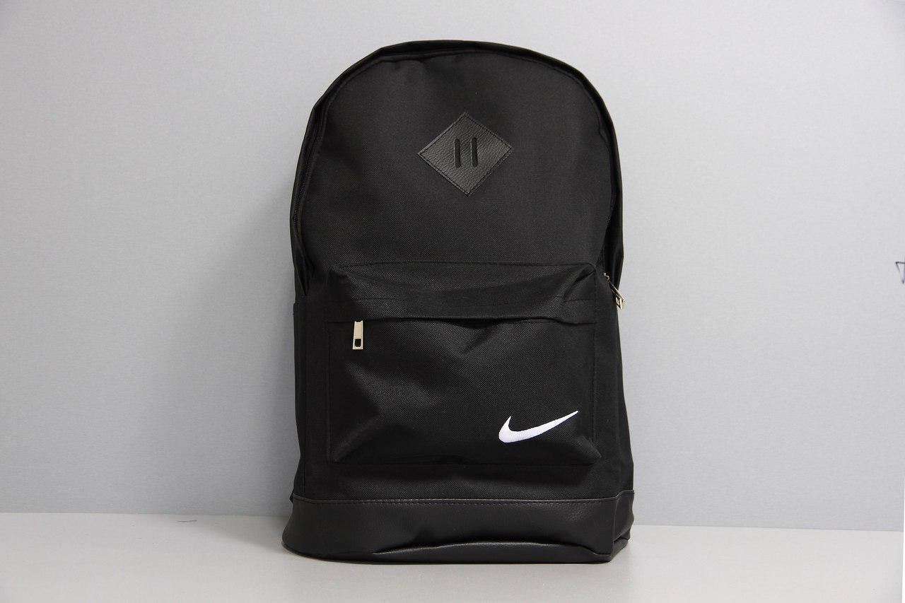Спортивный городской портфель повседневный рюкзак NIKE, Найк. Черный с черным. Ромбик