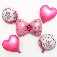 """Набор шаров """"Baby"""" розовый"""