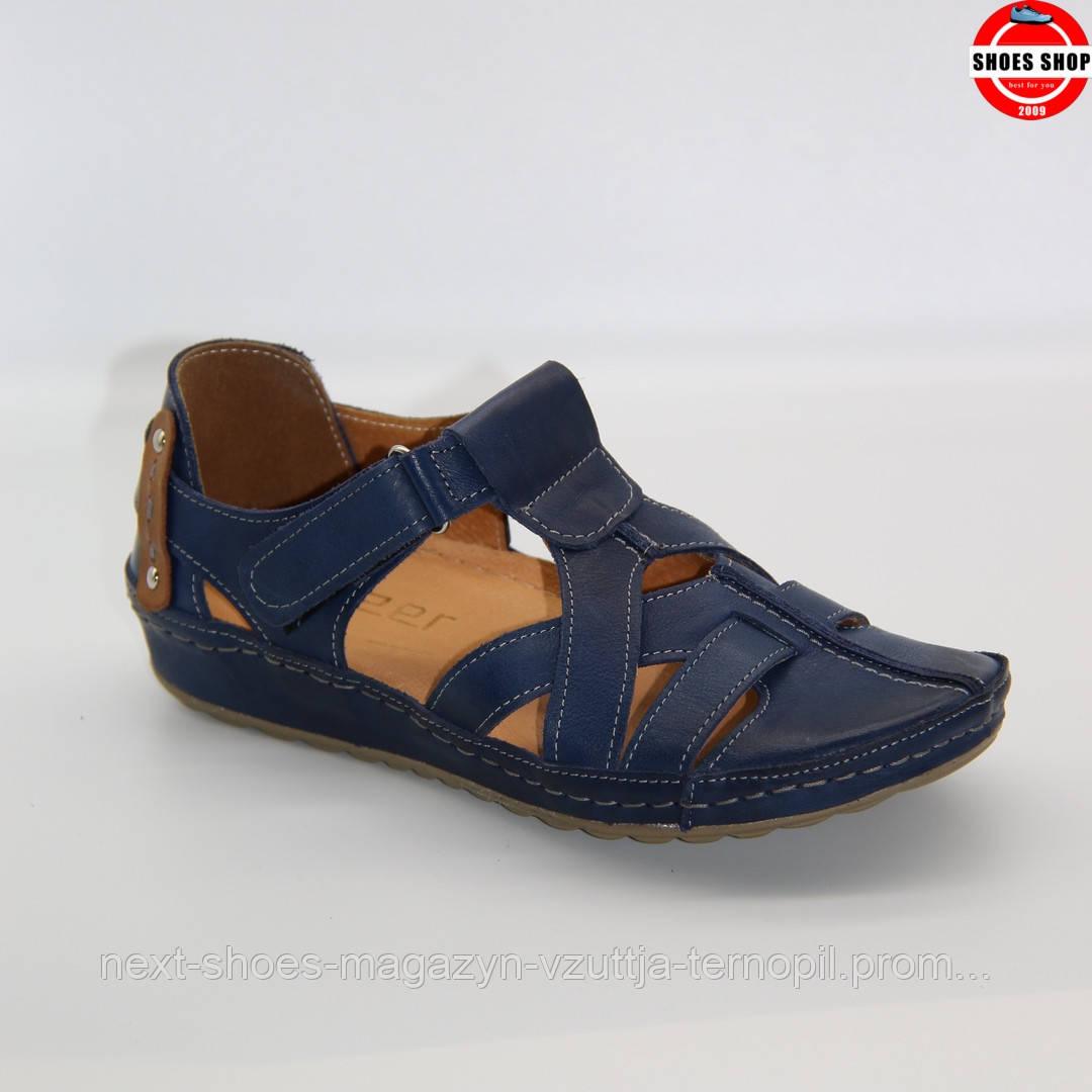 Чоловічі сандалі Steizer (Польща) синього кольору. Зручні та красиві. Стиль - Девід Бекхем