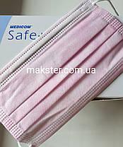 Маски медицинские Медиком (Safe+Mask Eonomy Medicom) 50 шт, фото 3