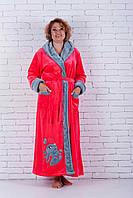 Женский халат махровый с вышивкой зайка, фото 1