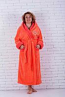 Махровый женский халат сердечки, фото 1