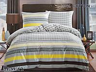 Сатиновое постельное белье евро ELWAY 5059