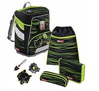 Шкільний рюкзак для хлопчиків HAMA Step By Step Пантера + 2 пенала + сумка для спортивного взуття