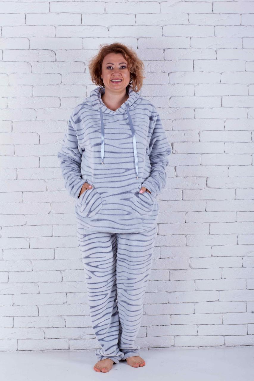 Пижама женская большого размера с капюшоном шиншила
