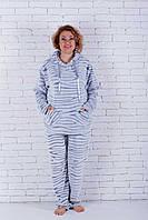 Пижама женская большого размера с капюшоном шиншила, фото 1