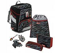 Шкільний рюкзак для хлопчиків HAMA Step By Step Дракон + 2 пенала + сумка для спортивного взуття