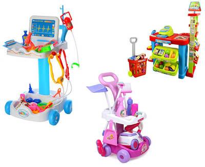Тематические игровые наборы - уборка, супермаркет, набор доктора
