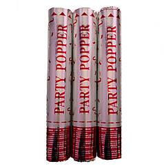 Пневмохлопушка Party Popper (Ассорти серебро) красный стиль, 30 см