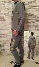 Костюм турецкий для девочек 128,140,152 роста Zelish серый, фото 2