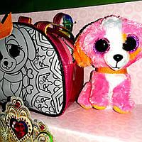 Сумка раскраска с питомцем (акриловые краски) Розовая Собачка