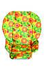 Чехол DavLu к стульчику для кормления Сhicco Polly 2 в 1 Разноцветные круги на желтом (Ch-006)