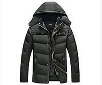 Мужская зимняя куртка. Экстремально тёплая. Оливковый. Размеры 46-52