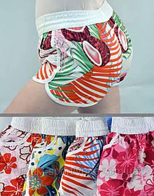 Шорты женские короткие с цветочным узором S - XL