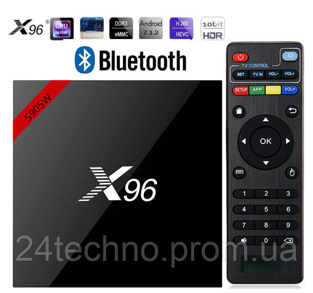 Smart Box X96W BT 2/16GB (bluetooth) Amlogic S905W HD