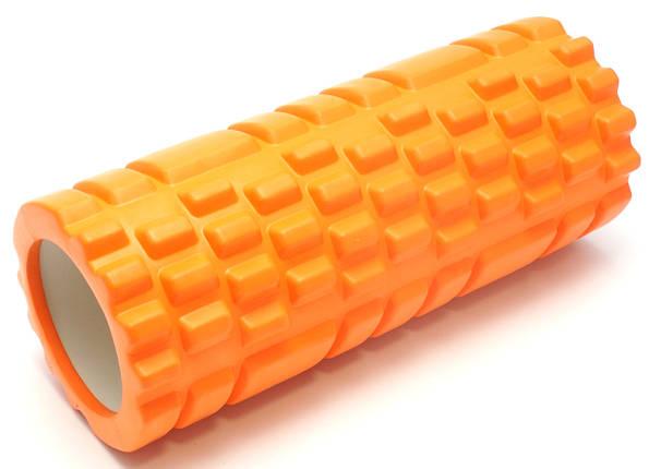 Массажный валик (MS 0857) Оранжевый 33х14 см., фото 2