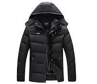 Мужская зимняя куртка. Экстремально тёплая. Черный. Размеры 50-52