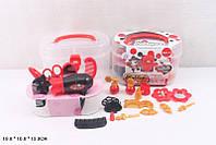 Парикмахерский набор фен, зерк., расчески, заколки, зерк., в чемодане 19*10*13см /72-2/
