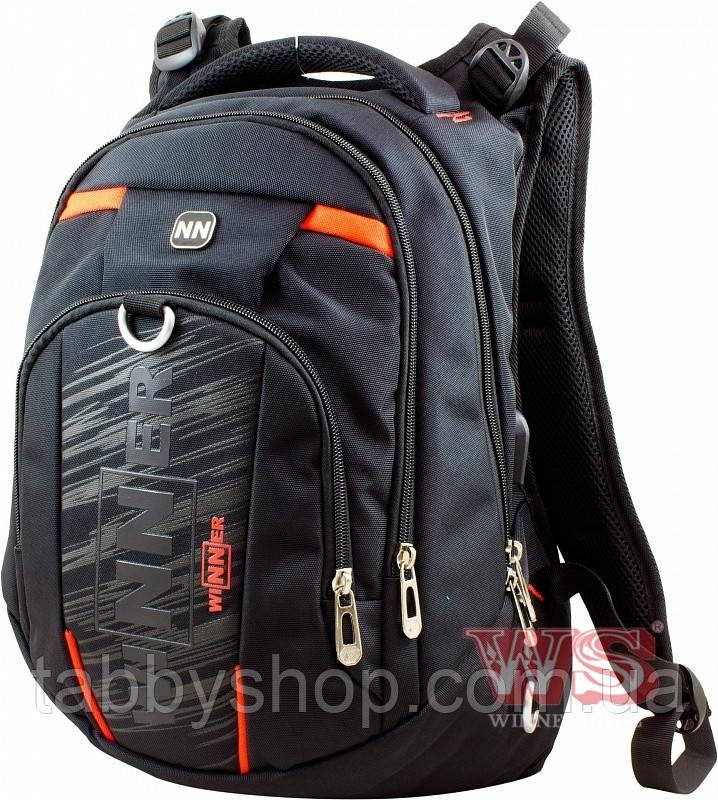 Рюкзак школьный подростковый Winner Stile 8806-4 оранжевый декор