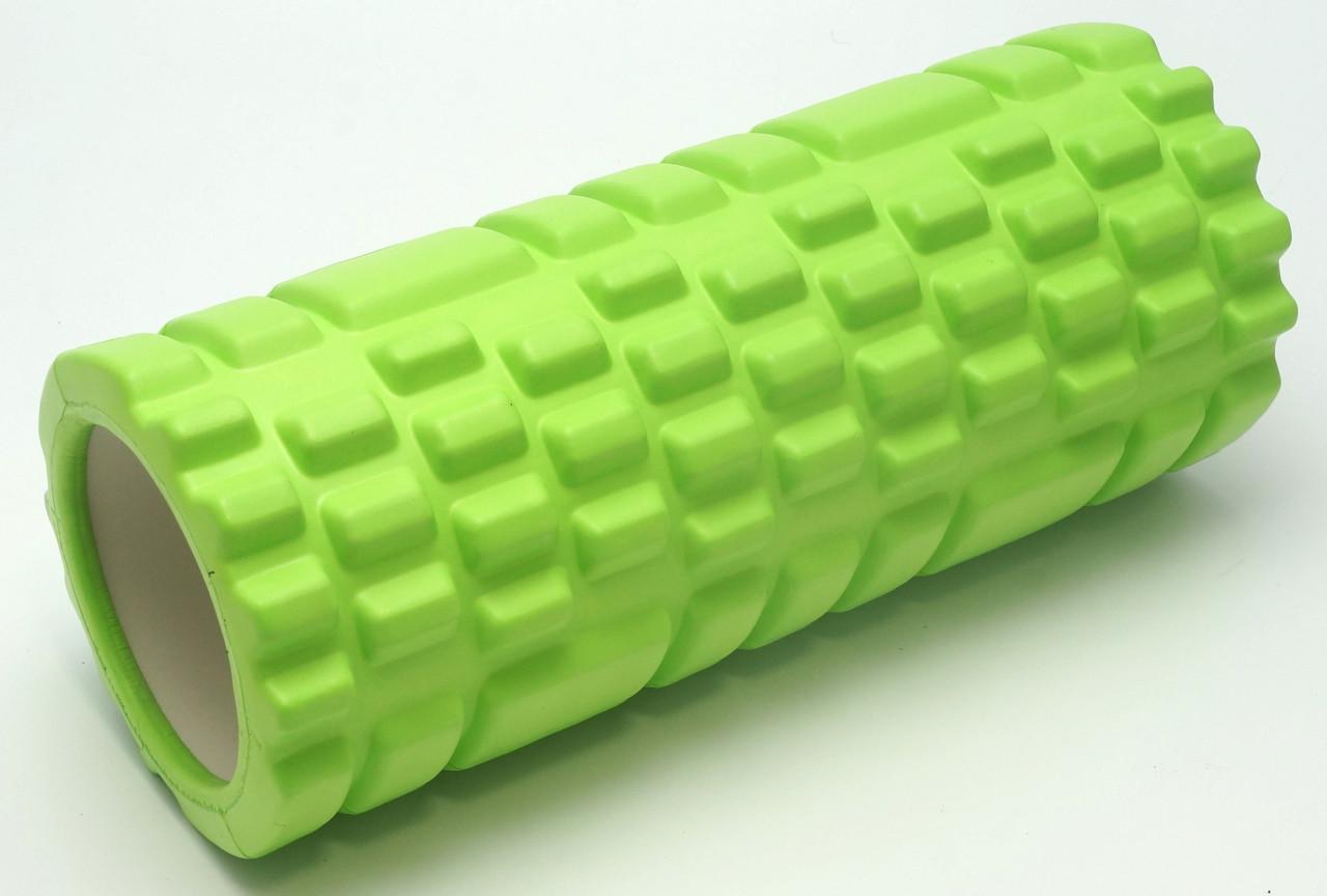 Массажный валик (MS 0857) Зеленый 33х14 см.
