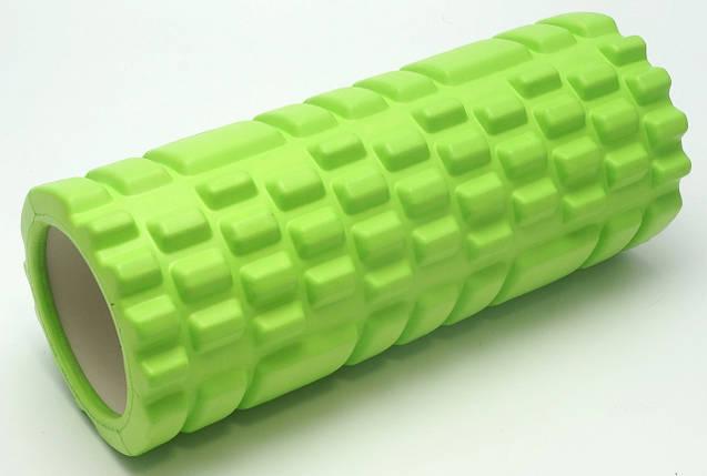 Массажный валик (MS 0857) Зеленый 33х14 см., фото 2