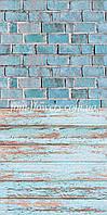 Виниловый Голубые кирпичики 50*100см