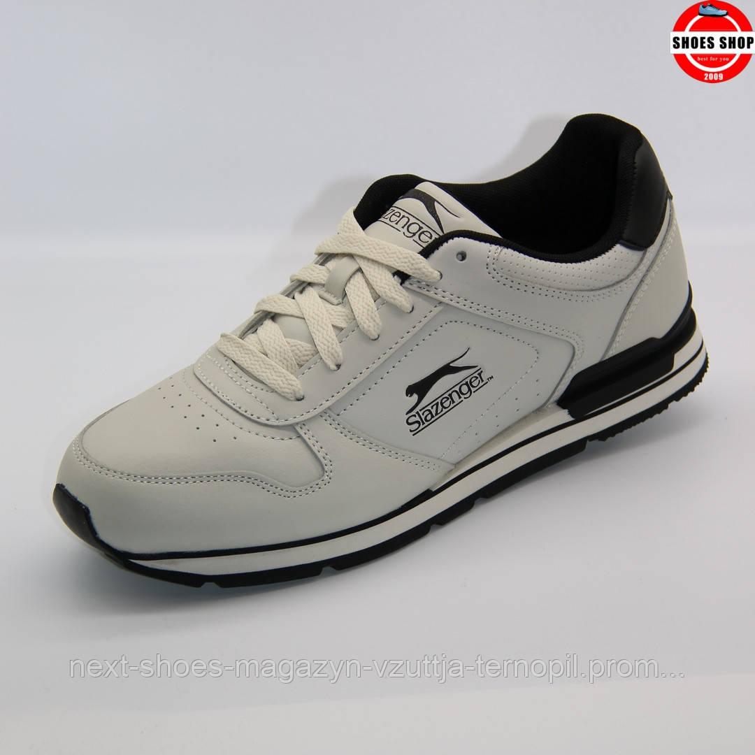 Чоловічі кросівки Slazenger (Китай) білого кольору. Дуже зручні та красиві. Стиль - Метью Макконахі
