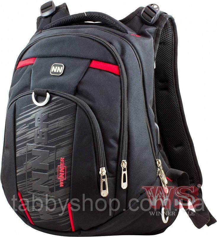 Рюкзак шкільний підлітковий Winner Stile 8806-4 червоний декор
