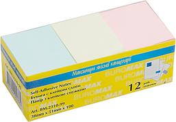 Блок бумаги для заметок Buromax 38 x 51 мм 100 листов ассорти